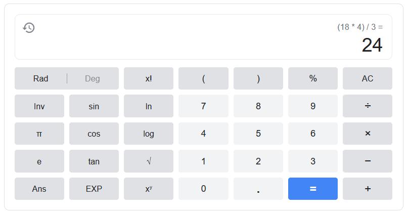 Kalkulačka na Google
